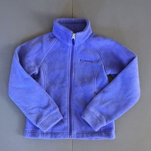 Columbia full zip fleece purple new girls size 6